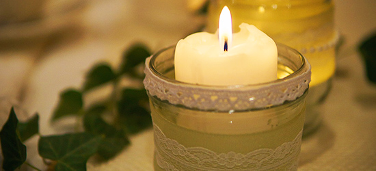 homemade candles - regina paper for people